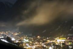 Skiort Solden Österreich Lizenzfreie Stockbilder