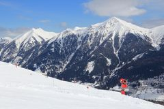 Skiort in Österreich Lizenzfreies Stockfoto