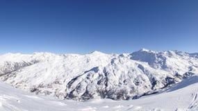 Skiort in Valloire, Frankreich Stockbilder