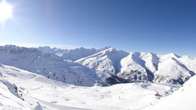 Skiort in Valloire, Frankreich stockfotos