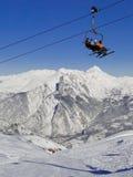 Skiort in Valloire, Frankreich Lizenzfreies Stockfoto