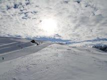 Skiort in Valloire, Frankreich Lizenzfreie Stockfotografie