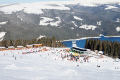 Skiort Vidra Stockfoto