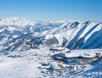 Skiort von Kaprun, Österreich Stockfotografie