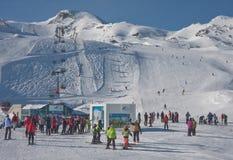 Skiort von Kaprun, Österreich lizenzfreies stockbild