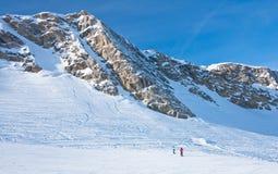 Skiort von Kaprun, Österreich lizenzfreie stockfotos