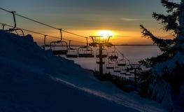 Skiort von Kaprun, Kitzsteinhorn Gletscher Lizenzfreies Stockbild