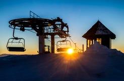 Skiort von Kaprun, Kitzsteinhorn Gletscher Lizenzfreie Stockfotos