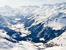 Skiort in Voralberg lizenzfreie stockbilder