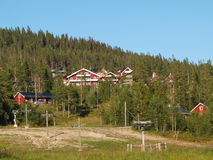Skiort während des Sommers lizenzfreie stockfotos