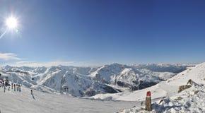 Skiort in Zillertal Stockfotos