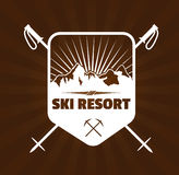 Skiortlogo Stockfotos