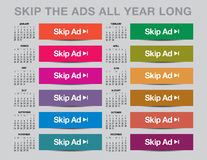2017 Skip the ads calendar Royalty Free Stock Photography