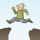 Skip the danger. Illustration of a person running very quickly Royalty Free Stock Photo