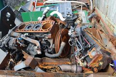 Skip engine scrap Royalty Free Stock Photos