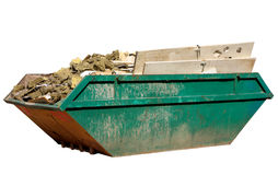 A skip full of building materi Royalty Free Stock Photography