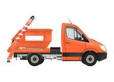 Skip loader truck. On the white background. Raster illustration Stock Photos