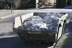 Skip with rubble Royalty Free Stock Photo