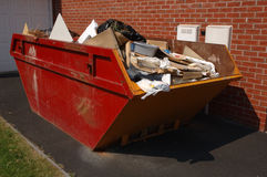 Skip van het vuilnis royalty-vrije stock afbeeldingen