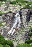 Skip waterfall, mountains High Tatras, Slovakia, Europe Royalty Free Stock Photography