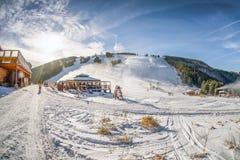 Skipark Malino Brdo, Slovakia. RUZOMBEROK, SLOVAKIA - DECEMBER 17: Ski resort Malino Brdo on December 17, 2017, Ruzomberok Stock Photos