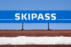 Skipass Banner Royalty Free Stock Photos