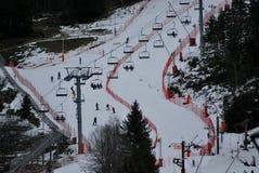 Skipiste in Chamonix, Frankreich stockbilder