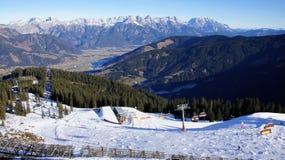 Skipiste in Leogang, Austria Royalty Free Stock Image