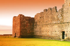 Skipness castle. Exterior of Skipness castle with sunset background, Kintyre Peninsula, Scotland stock image