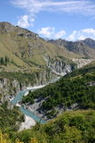 Skippers Canyon. View of Shotover River from Skippers Canyon, Central Otago, New Zealand Stock Photography