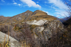 Skippers Canyon Road , Queenstown, New Zealand Royalty Free Stock Images