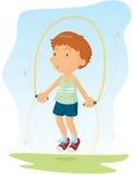 Skipping. Illustration of a boy skipping Royalty Free Stock Photos