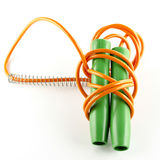 SKIPPING JUMPING ROPE Stock Photo