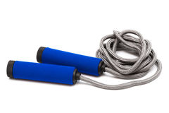 Skipping rope. Modern skipping rope on a white background Stock Photography