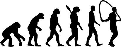 Skipping rope evolution. Vector sports Stock Photos