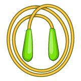 Skipping rope icon, cartoon style Royalty Free Stock Image