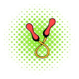 Skipping rope icon, comics style Royalty Free Stock Image