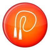 Skipping rope icon, flat style Stock Photo