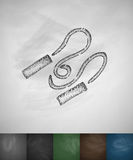 Skipping rope icon. Hand drawn vector illustration Stock Photo