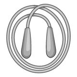 Skipping rope icon, monochrome style Stock Photography