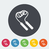 Skipping rope icon. Skipping rope. Single flat icon on the circle. Vector illustration Stock Photo