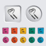 Skipping rope icon. Vector illustration Stock Image