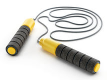Skipping rope isolated on white background. 3D illustration.  Royalty Free Stock Images