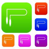 Skipping rope set collection Royalty Free Stock Images