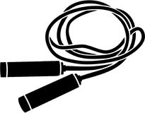 Skipping rope silhouette. Vector sports Stock Photography