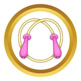 Skipping rope vector icon Royalty Free Stock Photography