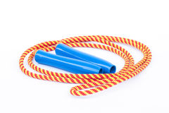 Skipping rope  on white background Stock Photos