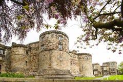 Skipton城堡,约克夏,英国 库存图片