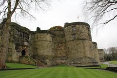 Skipton Castle in Skipton in the Craven district of North Yorkshire, England. Skipton Castle is a medieval castle in Skipton in the Craven district of North Royalty Free Stock Image