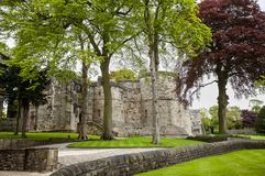 Skipton Castle, Yorkshire, United Kingdom. Skipton Castle is a medieval castle in Skipton, North Yorkshire, England. It was built in 1090 by Robert de Romille Royalty Free Stock Photos